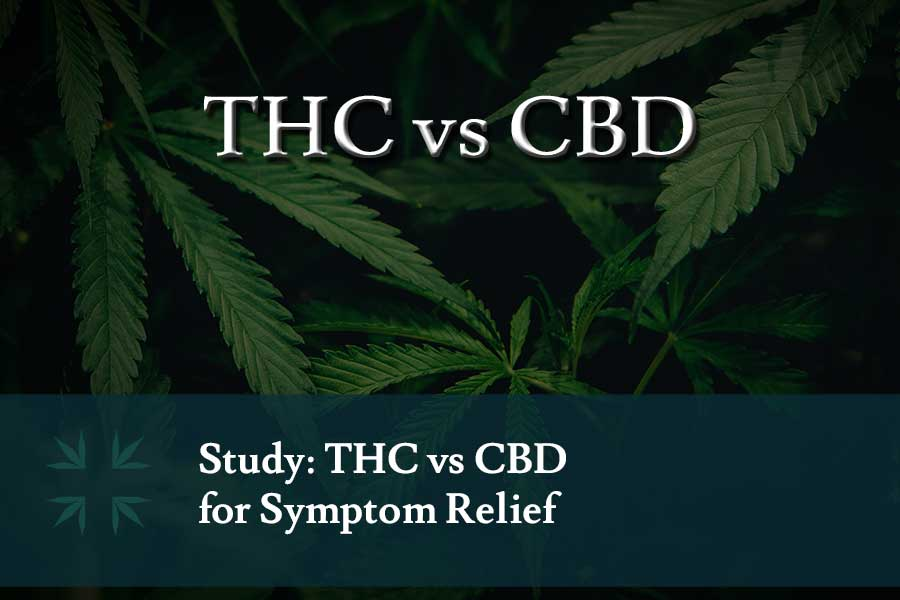 THC vs CBD symptom relief