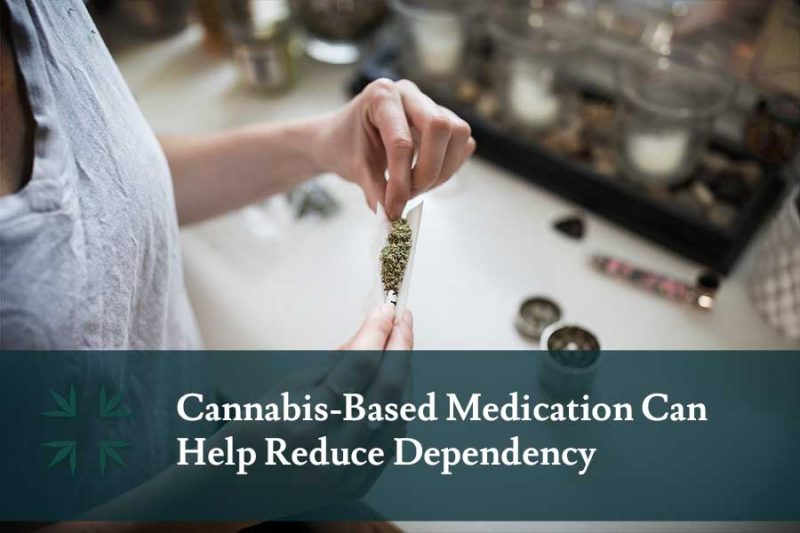 cannabis based medicine can help reduce dependency