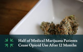 Half of Medical Marijuana Patients Ceases Opioids After 12 Months